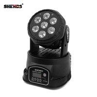 Mejor Envío rápido LED cabezal móvil Wash 7x12w RGBW iluminación Quad con advancedDJ DMX 10/15 canales, iluminación de escenario de SHEHDS