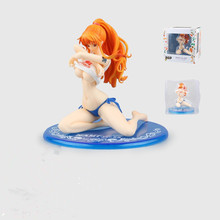 One Piece Figure Nami BB Ver. PVC Action Figure 14CM One Piece Nami Swimsuit Sexy Collectible Model Toy Figurine One Piece Doll