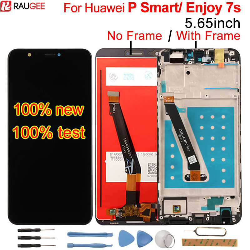 For Huawei P Smart LCD Display+Touch Screen Test Well New Digitizer Screen Glass Panel Replacement For Huawei P Smart/ Enjoy 7SFor Huawei P Smart LCD Display+Touch Screen Test Well New Digitizer Screen Glass Panel Replacement For Huawei P Smart/ Enjoy 7S