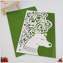 Animated birthday invitations promotion shop for promotional 2018 new 30pcs 1812cm hollow animal laser cut paper marriage wedding birthday invitations cards filmwisefo