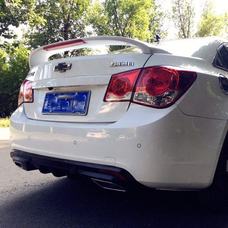 use for chevrolet cruze spoiler 2009-2014 cruze lip spoiler High Quality ABS Material Car Rear Wing Primer Color Rear Spoiler