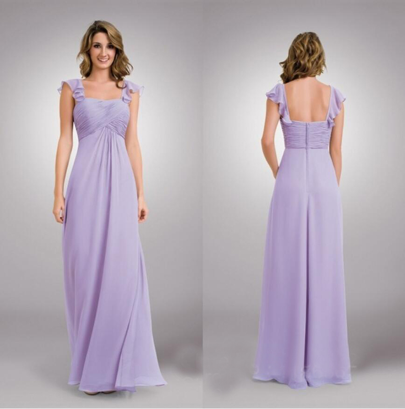 2015 A Line Flutter Cap Sleeve Maternity Bridesmaid