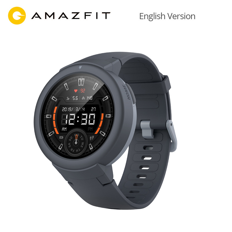 Global Version AMAZFIT Verge Lite Smartwatch 20 Days Battery Life 1.3 Inch AMOLED Screen Built in GPS Heart Rate Monitor-in Smart Watches from Consumer Electronics    1