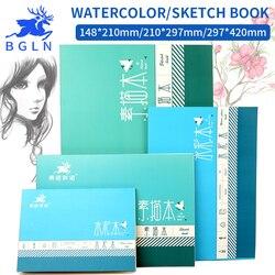 Bgln 1 peça profissional aquarela/esboço papel 16/32 folhas pintados à mão água-solúvel livro criativo escritório escola arte suprimentos