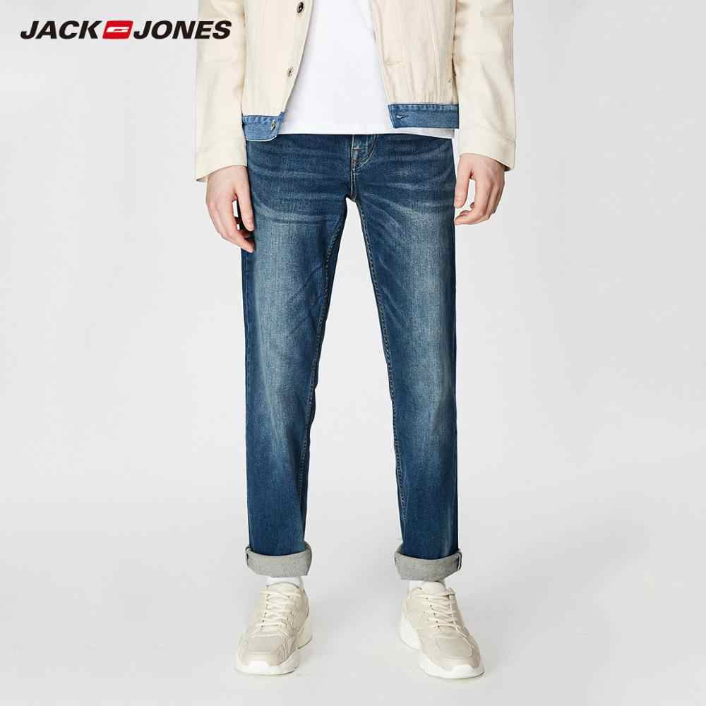 JackJones Men's Stretch Jeans men Elastic Cotton Denim Pants Loose Fit Trousers New Brand Menswear 219132584