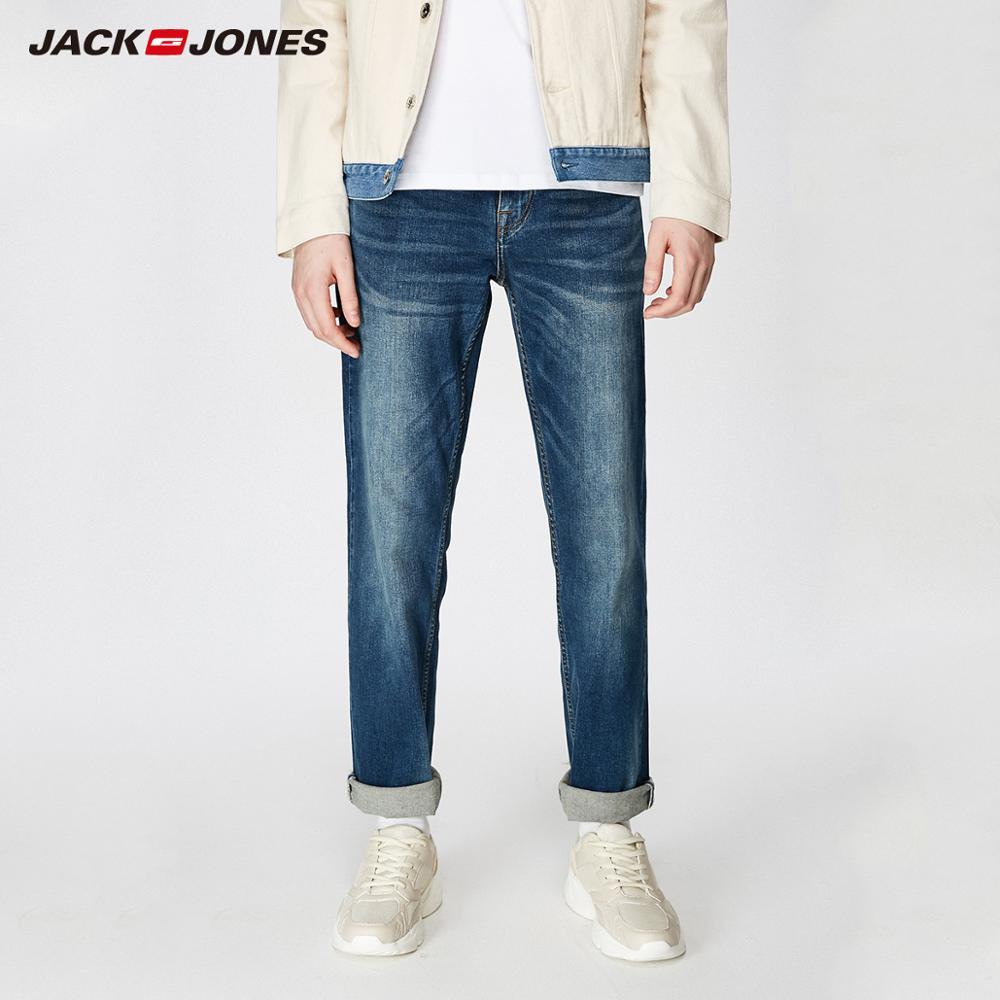 JackJones Men's Stretch Jeans men Elastic Cotton Denim Pants Loose Fit Trousers New Brand Menswear 219132584