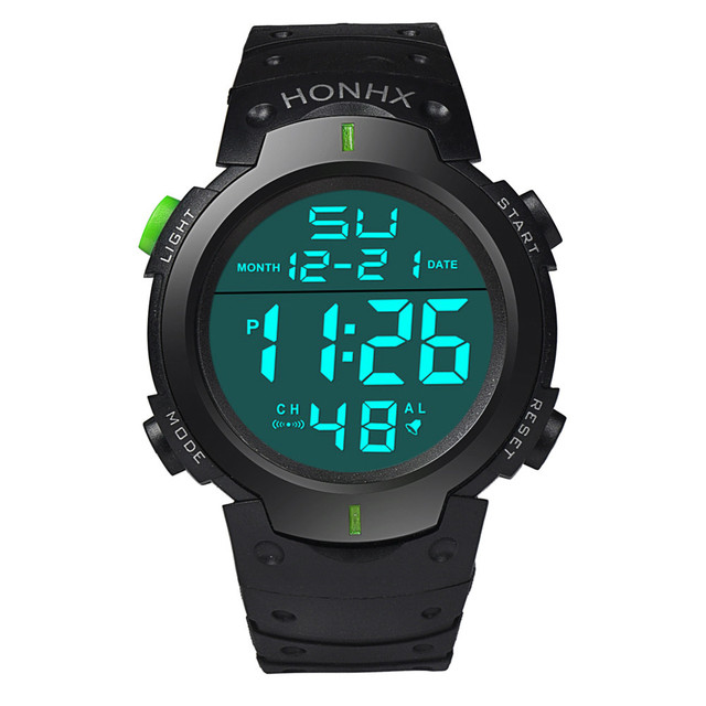 New Silicone LED Watch Hours Digital Watch Men Fashion Brand Male Clock Sports Relogio Masculino Wristwatch 1