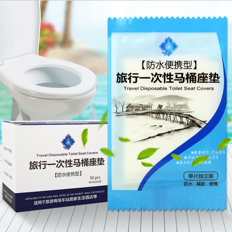 5pcsTravel disposable toilet cover maternity travel non-woven universal household bowl paste seat cushion