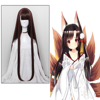 Game Azur Lane Cosplay Wigs Akagi Cosplay Hair Wig Heat Resistant Synthetic Wig Halloween Party Women Cosplay Long Wigs Hair
