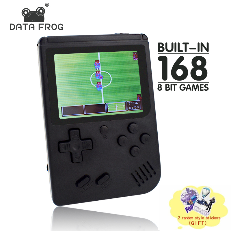 Data Frog Retro FC Mini Video Game Console Built In 168/200 Game 8 Bit 3.0  Inch Games AV Out Portable Handheld Game Gift For Kid-in Handheld Game  Players ...