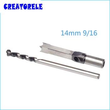 цена на wood  Drill set 14mm 9/16'' Woodworking Tool Square Hole Bits Drill Mortising Chisel Set Mortiser Drill Bit Set