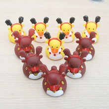 10 pcs/set Baby Bath Toys Christmas Duck Swimming Water Bathing Ducky Toy For Children Play gift for girl and boy