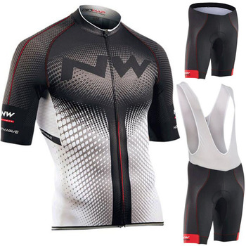 NW Brand Summer Cycling Jersey Set Breathable MTB Bicycle Cycling Clothing MTB Bike Clothes Cycling Set Maillot Ropa Ciclismo