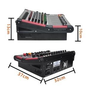 Image 4 - MINI8 P 8 ערוצים כוח ערבוב קונסולה עם מגבר Bluetooth להקליט 99 DSP אפקט מקצועי USB אודיו מיקסר