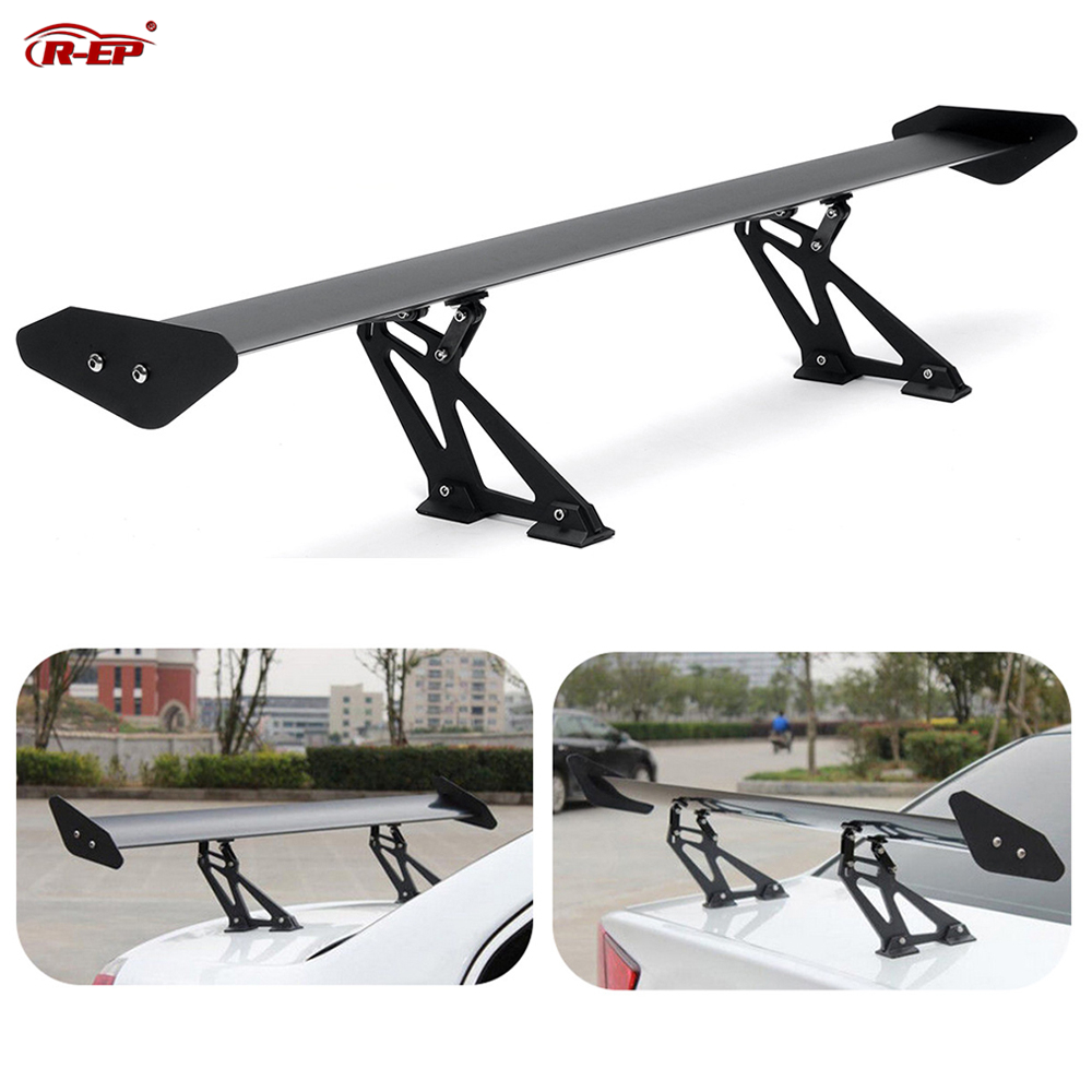 R EP Car Spoiler Universal for Sedan Racing Car 135cm Aluminum Rear Trunk GT Spoilers Wing