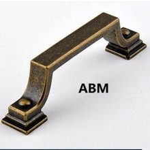 76mm vintage distree bronze furniture handles antique iron kitchen caninet drawer pull black antique dresser door