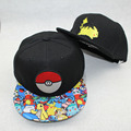 Anime Pokemon Pikachu Adults Hip Hop Hat Hip-hop Hat baseball cap casquette Swag Snapback I help him Wouldn't Cap Free Shipping
