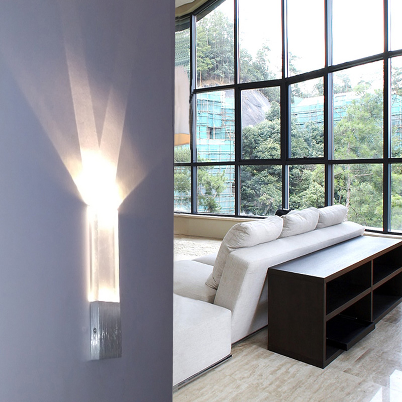 Contemporary Wall Lights Lounge : Bar indoor rectanglar Led lighting Acrylic wall lamp contemporary Simple Bedroom Wall light ...
