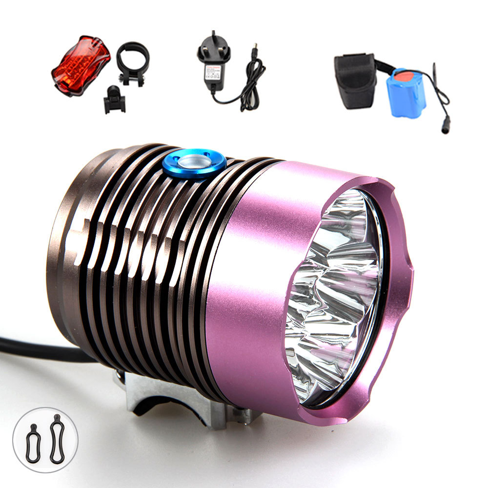 150000 lumens 7x XMl T6 led Bicycle Light Bike Light Led Flashlight Torch+ Taillight+Battery+Charger какой микроавтобус лучше для работы до 150000