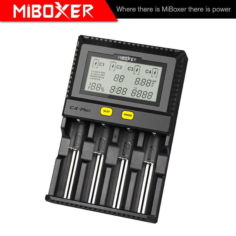 MiBoxer C4-Plus батарея зарядное устройство двойной AA Max 2.5A/слот супер быстрый 18650
