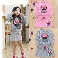 Nueva minnie ropa de los niños niñas juegos de ropa del bebé t-shirt + skirt 2 unids conjunto ropa de mujer ensemble fille meisjes kleding