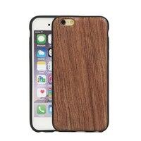 Custom Ultra Slim Luxury Fundas Thin Wood Coque TPU Case For IPhone 5 5S 6 6S