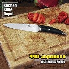 TUO Besteck B & W Serie 5 Zoll Utility Messer Schneiden Küche kochchef santoku sharp klinge schneiden matt schwarz 440 japanischen stahl