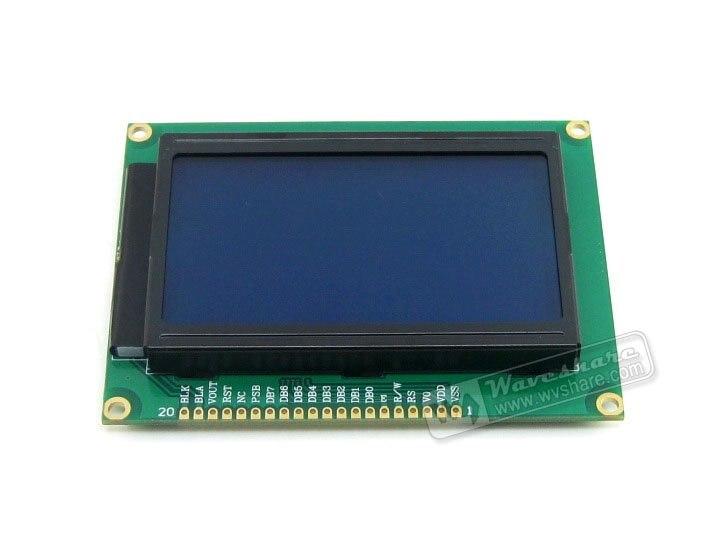 12864 128*64 Graphic Matrix LCD LCM Display Module TN/STN Blue Backlight White Character 3.3V Logic Circuit module 1604 164 16 4 character lcd module lcm display blue backlight white character 5v logic circuit
