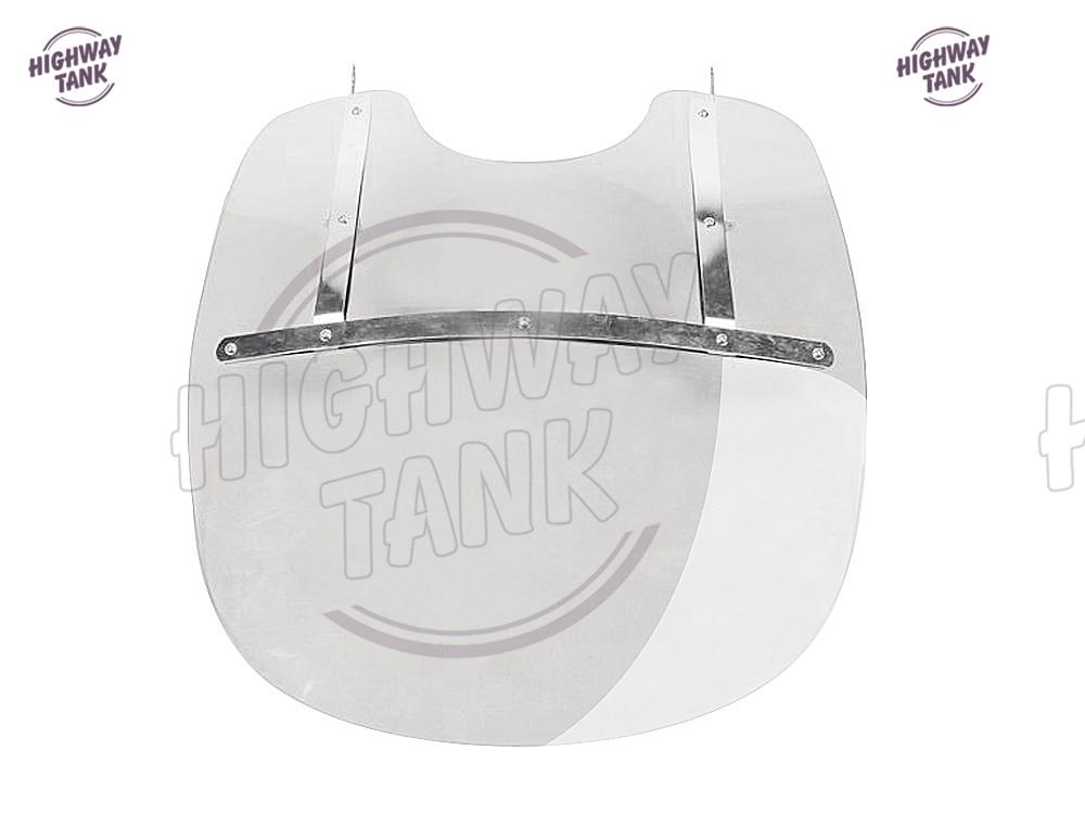 1 Pcs Detachable Motorcycle PC Clear Windscreen Motor Front Windshield Case For Harley FLS FLST FLSS