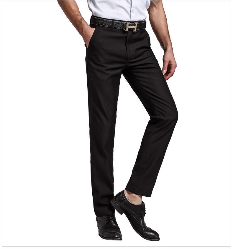 YAUAMDB/мужские костюм Штаны весна-осень Размер 28-40 Мужские брюки карман одежда бизнес soild формальный человек черная одежда ly51 - Цвет: Черный