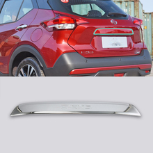 ABS  Rear Tail Trunk Lid Molding Cover Trim 1pcs Car Styling For Nissan 17 KICKS car styling outer rear trunk boot bumper guard plate molding trim steel 1pcs for volvo xc90 2nd gen 2015 2018