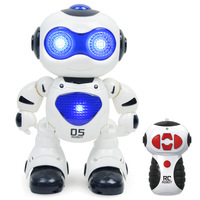 Mini RC Robot Toy Musical Dancing Lighting Walking Roating Electronic RC Robot Toys for Children Gift with Original Box