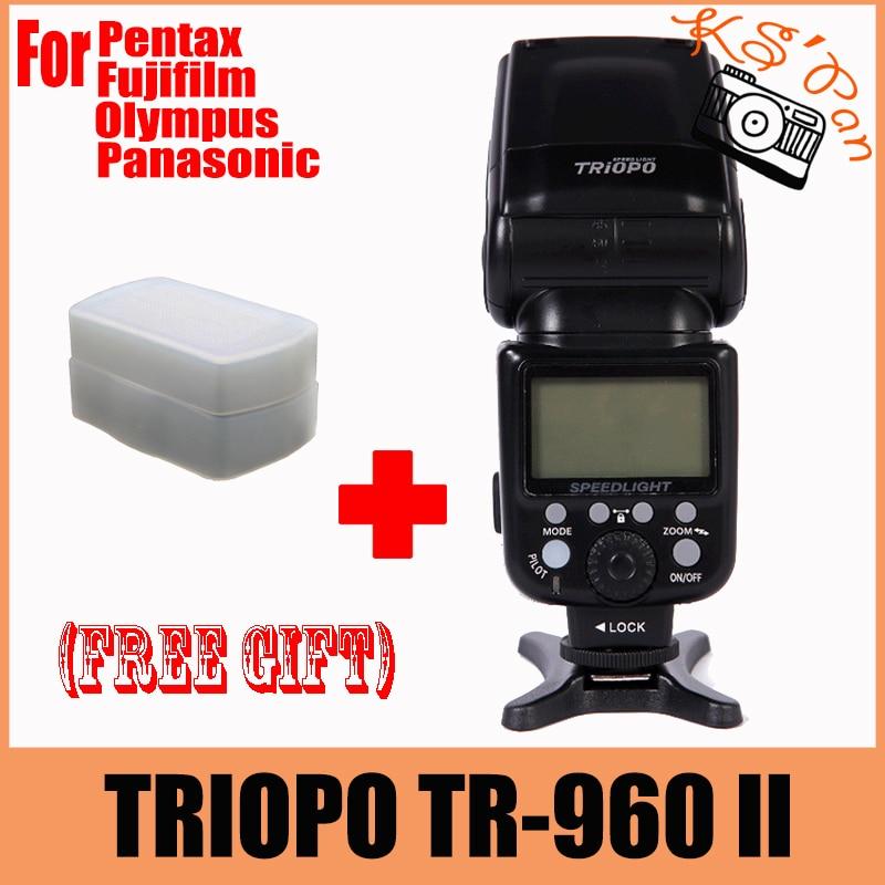 лучшая цена Camera Flash Light TRIOPO TR-960 II Wireless Speedlite Light Manual Zoom for Panasonic Pentax Olympus Fujifilm DSLR Camera