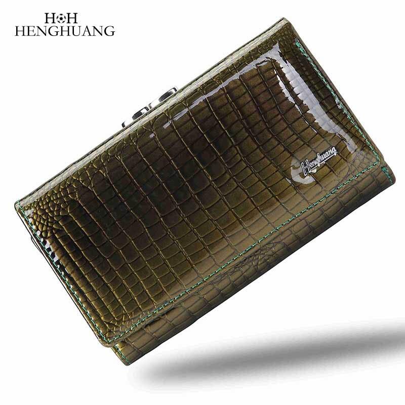 couro genuíno carteira feminina ferrolho Composição : Genuine Leather