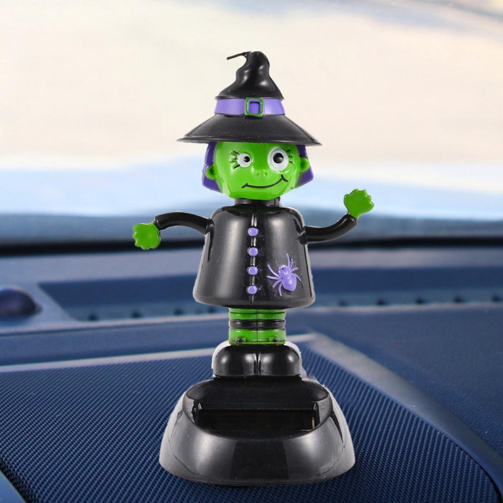 Car Solar Swinging Ghost Shaking Head Doll Halloween Gift For Children Gifts