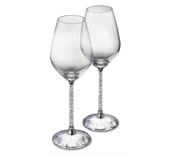 free shipping 2 pc per set grace delight new design luxury crystal red wine glass goblet