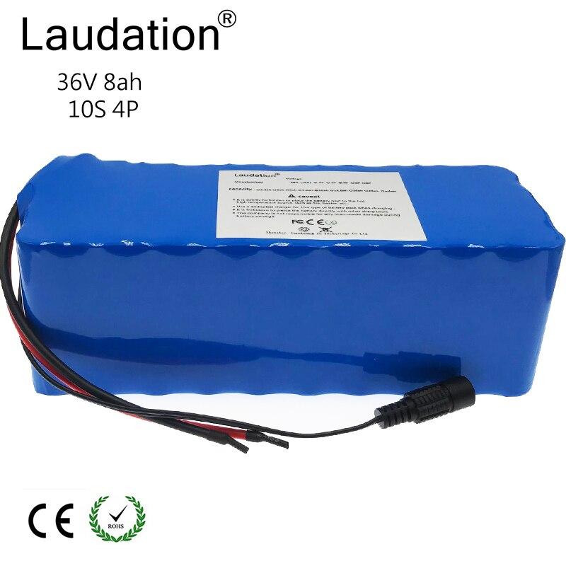 Laudation 36 V batterie au lithium 8ah 8000 mah 10S4P 18650 batterie Rechargeable, changement de vélos, protection de voiture électrique avec PCB