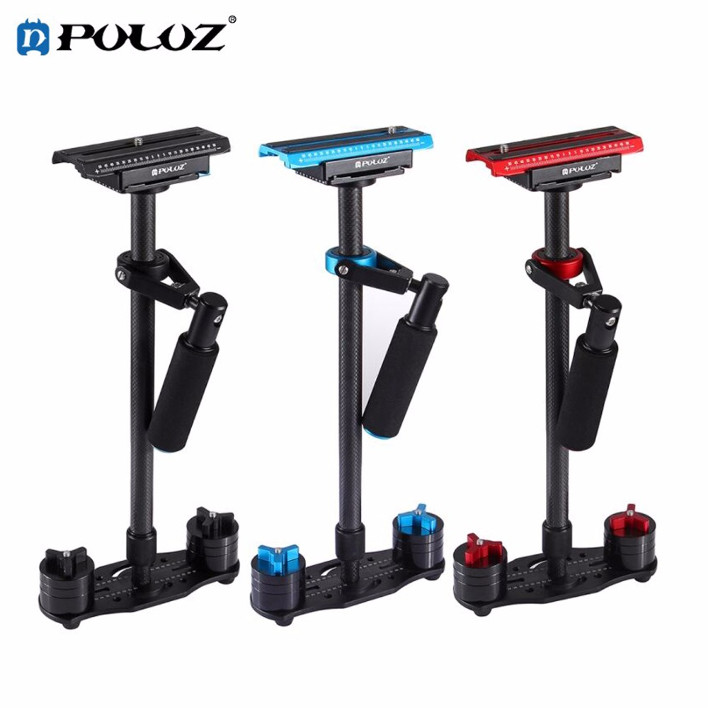 PULUZ P60T Carbon Fiber Handheld Camera stabilizer Adjustable bracket S60T for Steadicam camera for Nikon Canon DSLR Cameras