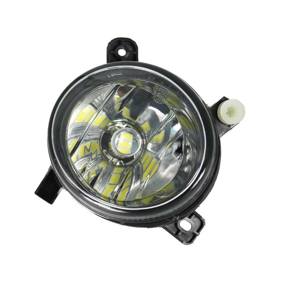 LED Light For Audi Q5 2009 2010 2011 2012 2013 2014 2015 2016 2017 Left Side Front LED Bulb Fog Light Fog Lamp fog light grill for audi a4 s line s4 2013 2014 2015 front bumper grille foglamp cover left