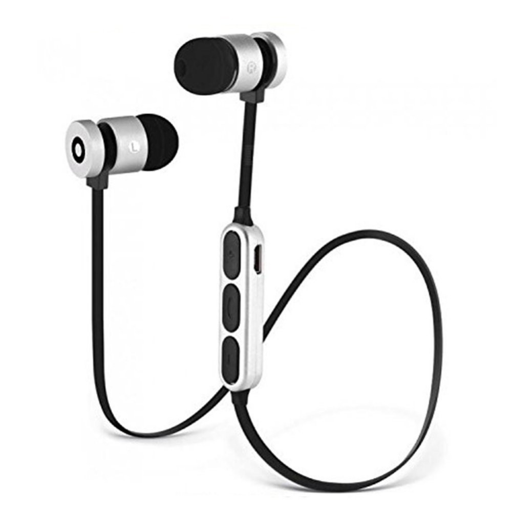 Metal Magnet Wireless Bluetooth Handsfree Earphone Headset Magnet Metal Sports Bluetooth Earphone Wireless Earbud For iPhone