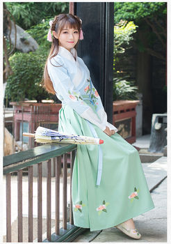 2020 New Fahion  Chinese Ancient Traditional Hanfu Women Girl Fusion Modern Hanbok Tang Dynasty Consum Cosplay Party Game