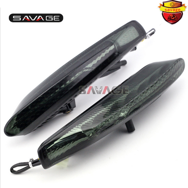 For DUCATI Diavel /Carbon 2011-2015 12 13 14 Motorcycle Integrated LED Tail Light Turn signal Blinker Lamp Left & Right Smoke