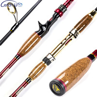 Catch.U 2.1m Spinning Rod Fuji Fishing Rod Spinning Casting Lake Fishing Rods Carbon Fiber Hard Lure Rod M Power