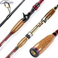 Catch.U 2.1m Spinning Rod Fuji Fishing Rod Spinning Casting Lake Fishing Rods Carbon Fiber Hard Lure Rod M Power