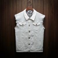 YuWaiJiaRen Fashion Jeans Jacket Men Cowboy Vest Cotton Loose Single Breasted Multi pocket Sleeveless Vest Waistcoat