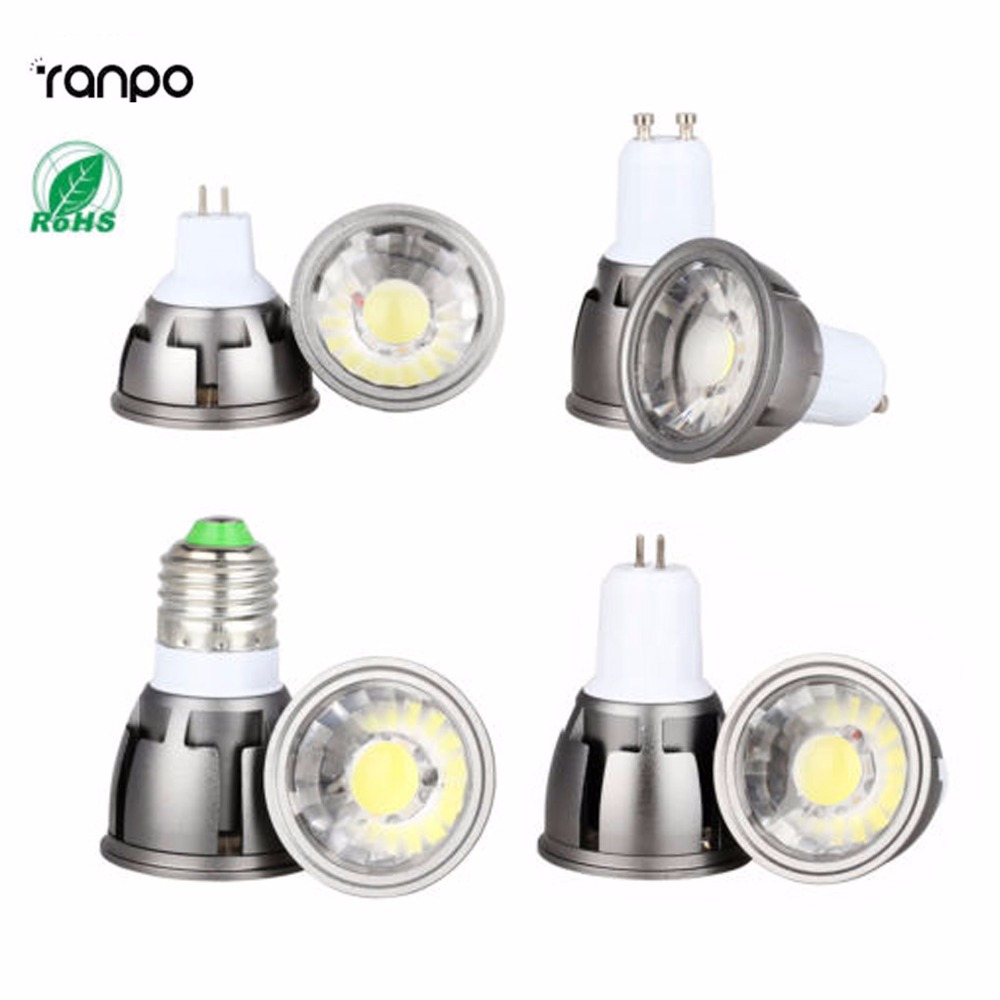 Ultra Bright Dimmable LED COB Spotlight 6W 9W 12W E26 E27 MR16 GU10 GU5.3 Light Bulb 12V AC 220V 110V