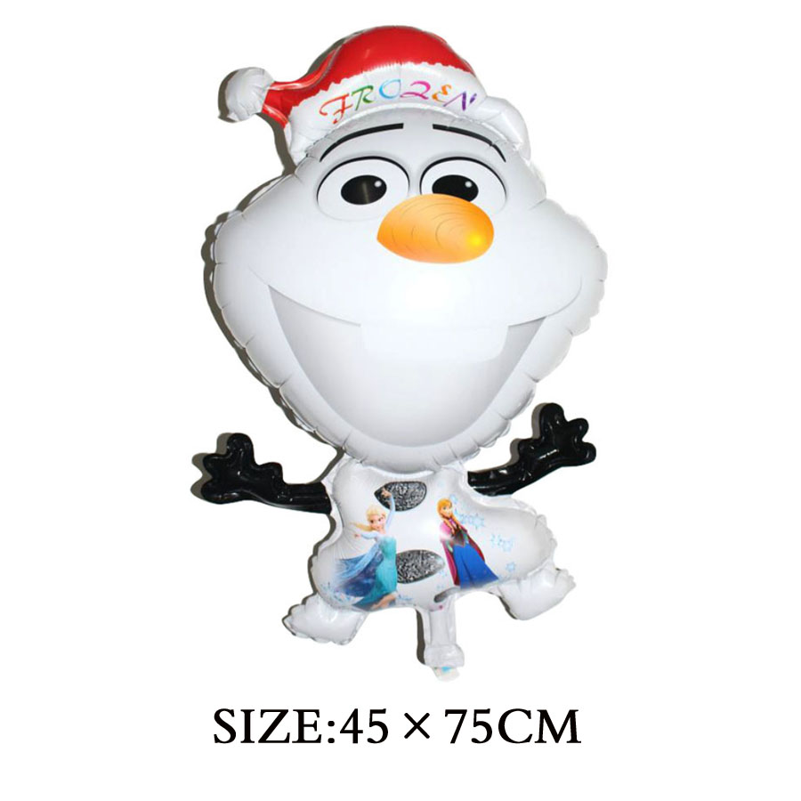 1pc 72*43cm Party Cartoon Shape Olaf Foil Helium Balloon Birthday ...