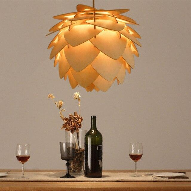 Moderne Holz Tannenzapfen Diy Anhanger Lampen Dia 30 45 60 Cm
