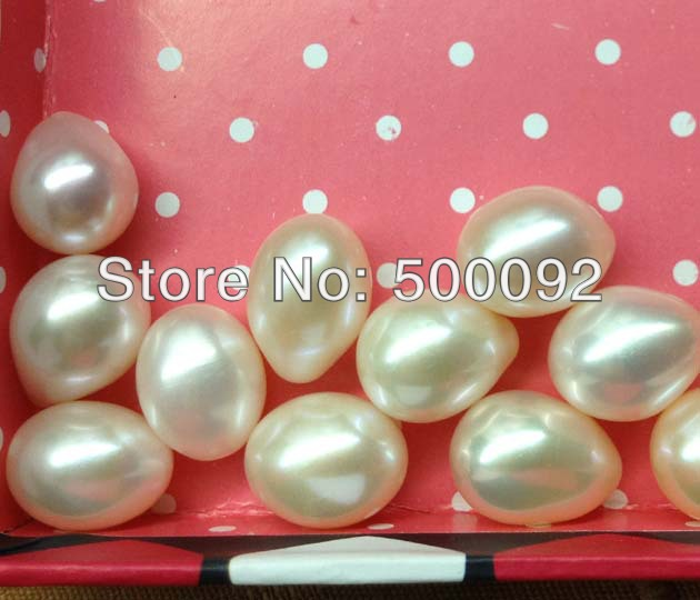 Stunning wholesale 10 12 14mm drop half drilled freshwater pearl