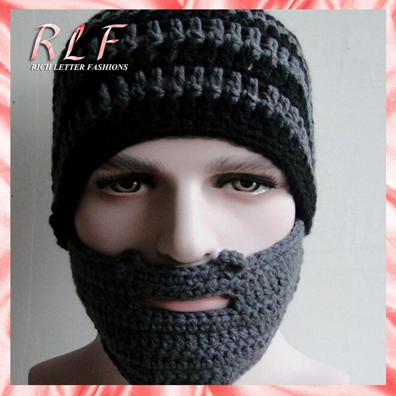 New 2014 Handmade Knitted Crochet Beard Hat Winter Mask Ski Cap Hats